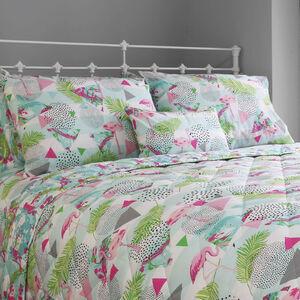 Flamingo Multi Bedspread 200cm x 220cm