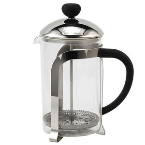 Glona Stainless Steel Glass Cafetiere 800ml