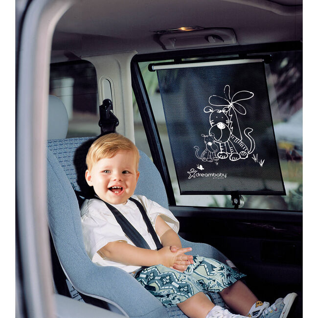 Double Sided Tiger Print Car Window Blind