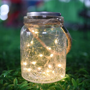 20 Micro LED Glass Jar Solar Light