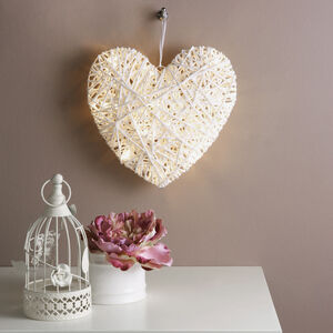 Light Up Heart with LED Lights 25cm