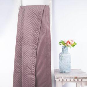 Triangle Stitch Throw 150 x 200cm - Misty Lilac