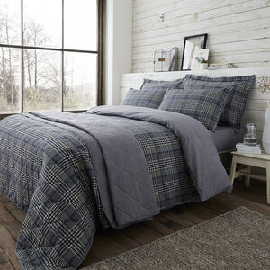 SINGLE DUVET COVER Brushed Cotton Wall Check