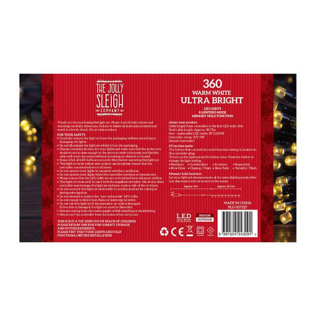 360 Warm White Ultra Bright LED Lights