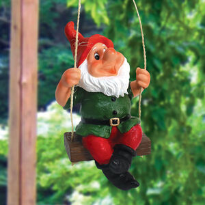 Novelty Swinging Gnome