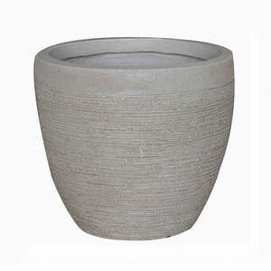 Medium Round Beige Fibre Clay Pot
