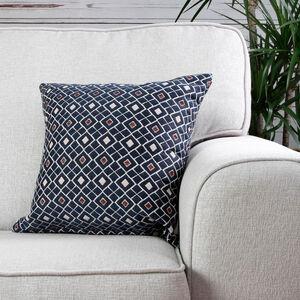 Mairead Diamond Denim Cushion 45cm x 45cm