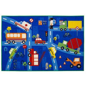 Traffic Jam Childrens Floormat 100x150cm