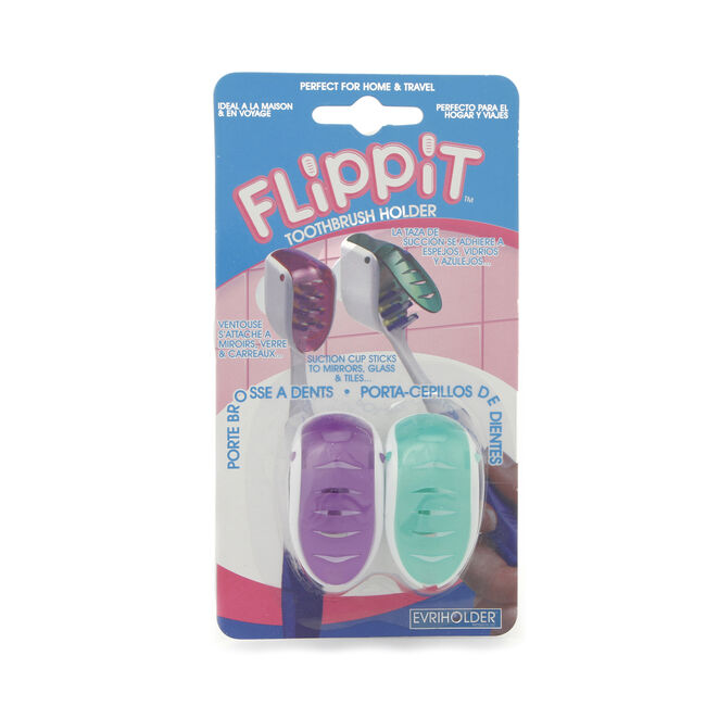Flippit Toothbrush Holder 2 Pack