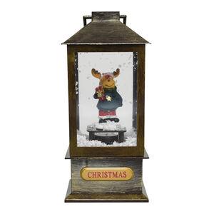 Mini Snowing Lantern - Reindeer