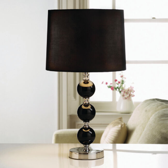 Traditional 3 Glass Ball Table Lamp