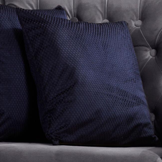 Diamond Cushion 45x45cm - Navy