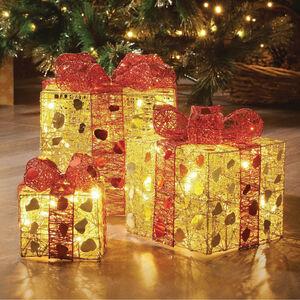 Set of 3 Light Up Parcels