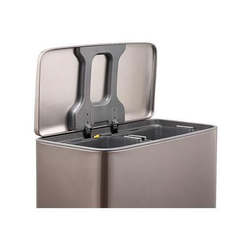 Forma 2 Compartment 60 Litre Bin Platinum