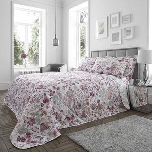 Nichola Bedspread 200x220cm - Grey/Pink