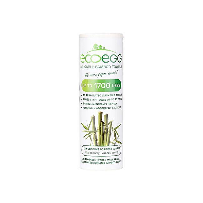 EcoEgg Reusable Bamboo Towels
