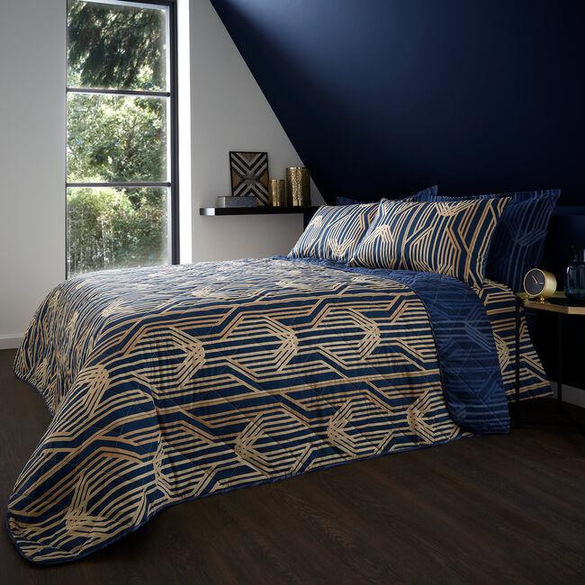 Myrtle Bedspread 200 x 220cm - Navy