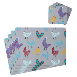 Happy Hens 4pk Mats & Coasters