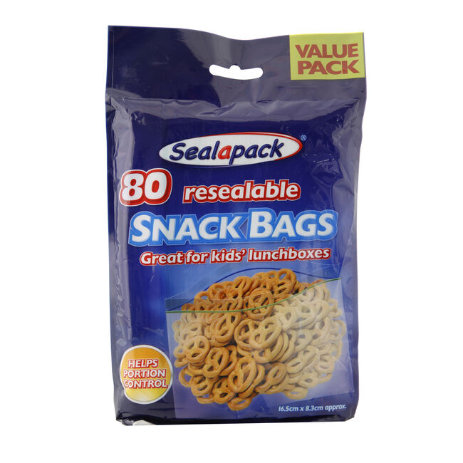 Sealapack Resealable Snack Bags - 80 Pack