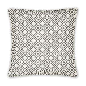 Diamond Jacquard Grey Cushion 45cm x 45cm