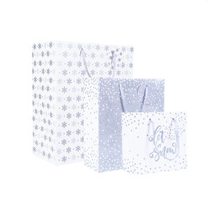 Gift Bags Pack of 3 - Silver