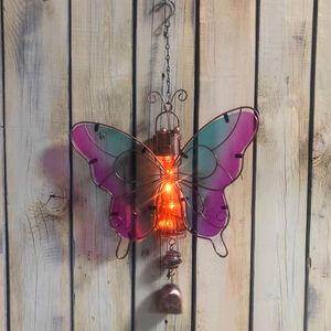 Solar Butterfly Chime Garden Decoration