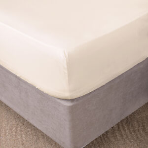 SINGLE FITTED SHEET 300 Threadcount Cotton Cream