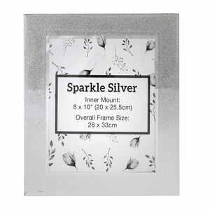 Sparkle Silver Photo Frame 8x10""