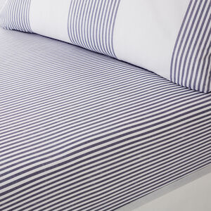 SMYTH BLUE Single Fitted Sheet