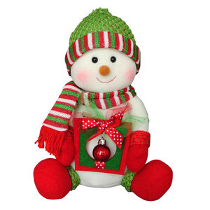 Snowman with Christmas Bauble & Gift