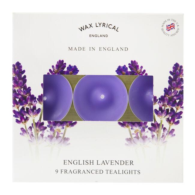 English Lavender Box of 9 Tealights