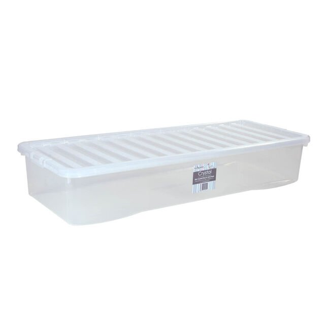 Clear Storage Box with Lid 55 Litre
