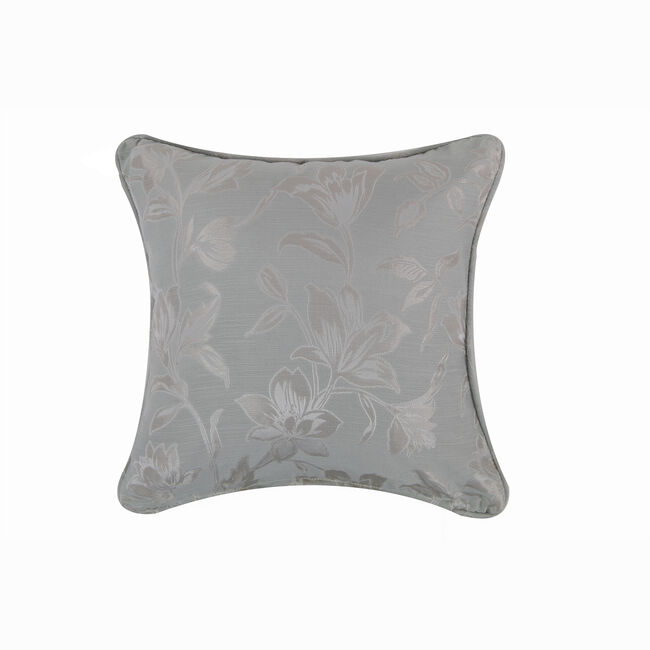 Floral Jacquard Cushion 45x45cm - Duck Egg
