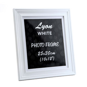 Lyon White Photo Frame 10x12""