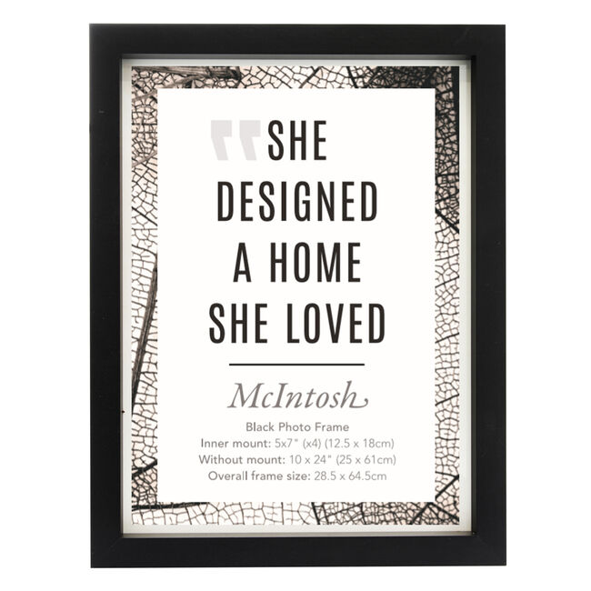 "McIntosh Black Photo Frame 4x 5""x7"""