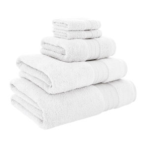 450GSM  ZERO TWIST WHITE 30*30 Face Towel 2pk