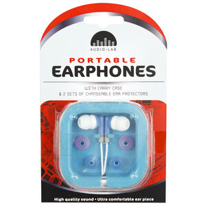 Portable Earphones & Case