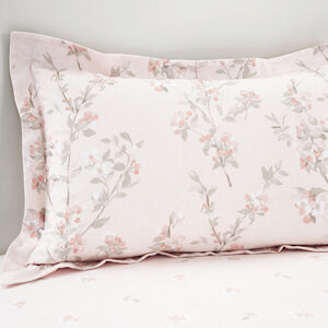 Brushed Cotton Maisy Peach Oxford Pillowcases
