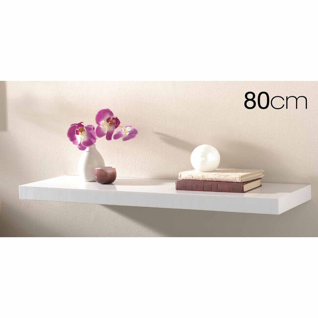 Capri Floating Wall Shelf Set 80cm White