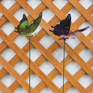 Metallic Butterfly Garden Stake