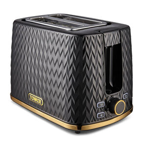 Tower Empire Black 2 Slice Toaster