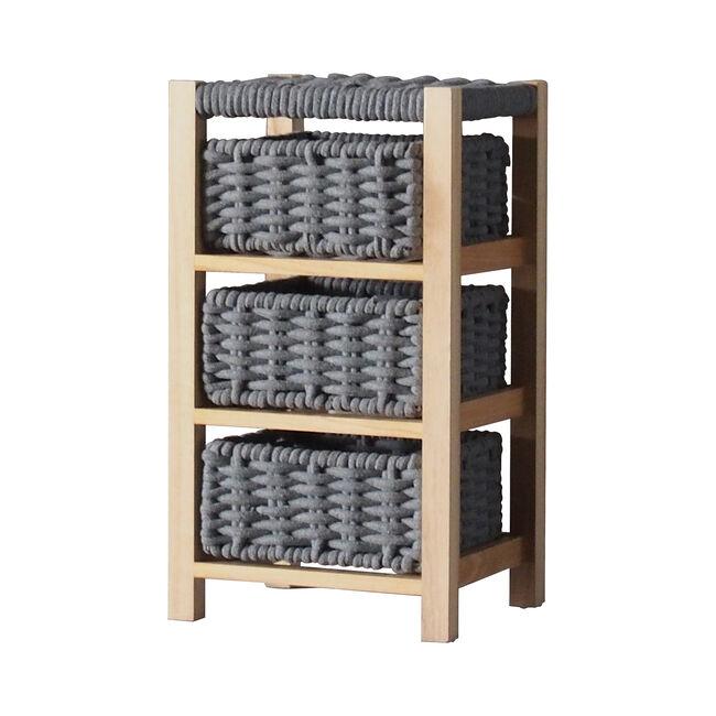 Classic Knit 3 Drawer Unit - Grey