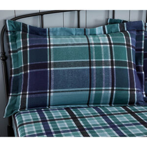 Brushed Cotton Freeman Check Oxford Pillowcases