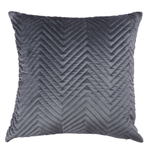Triangle Stitch Cushion 58x58cm - Grey