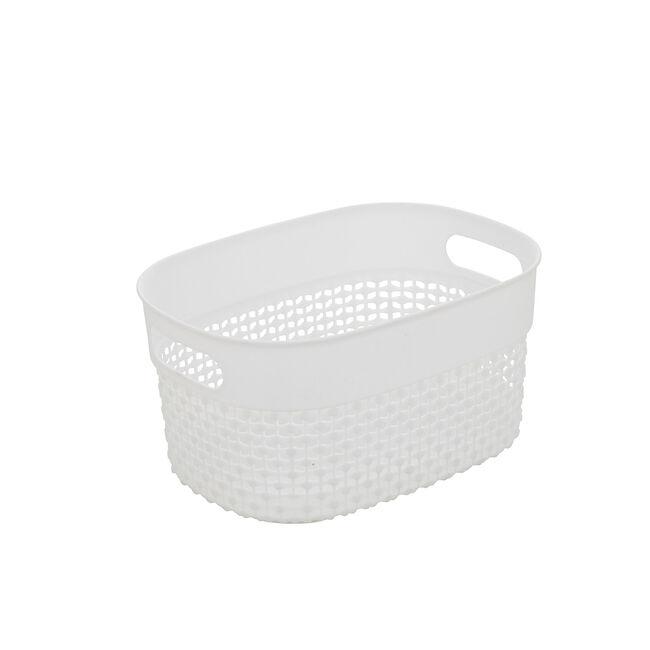 DOT White Storage Basket 3.5L