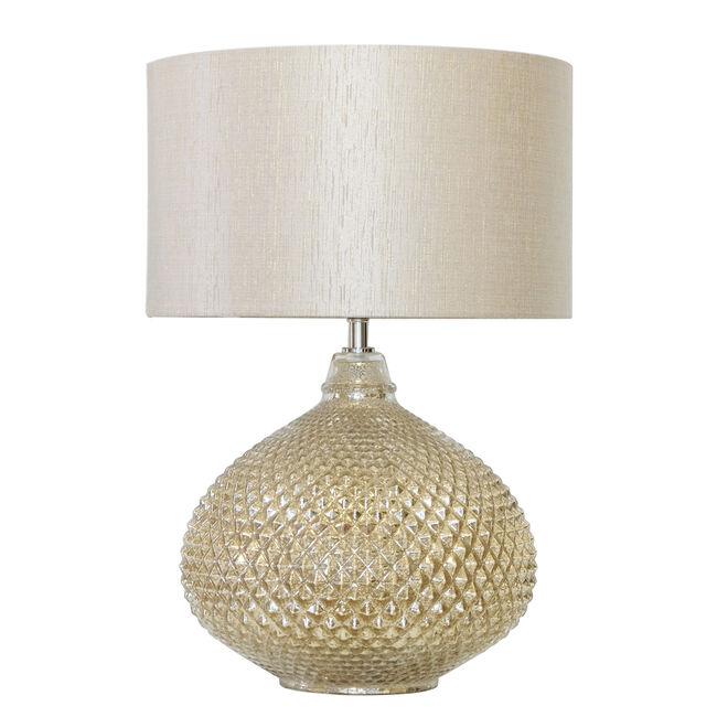 Champagne Mercury Glass Table Lamp