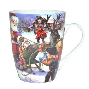 Love Christmas Santa Comes to the Village Mug