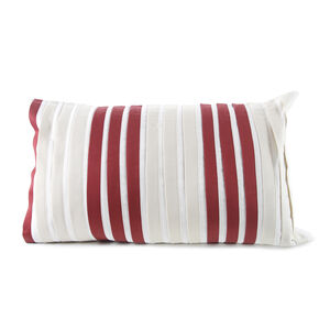 Pleats Red Cushion 30cm x 50cm