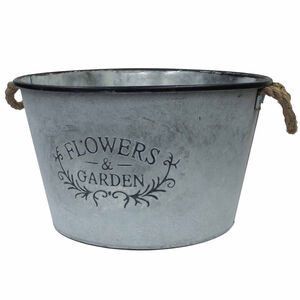 Flowers & Garden Large Bucket With Rope Handles