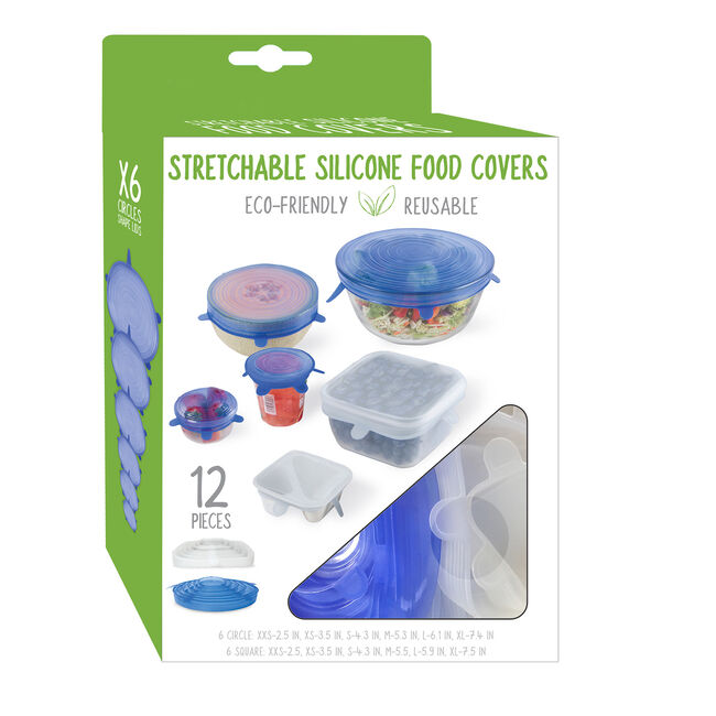 Stretch Food Covers 12 Pack